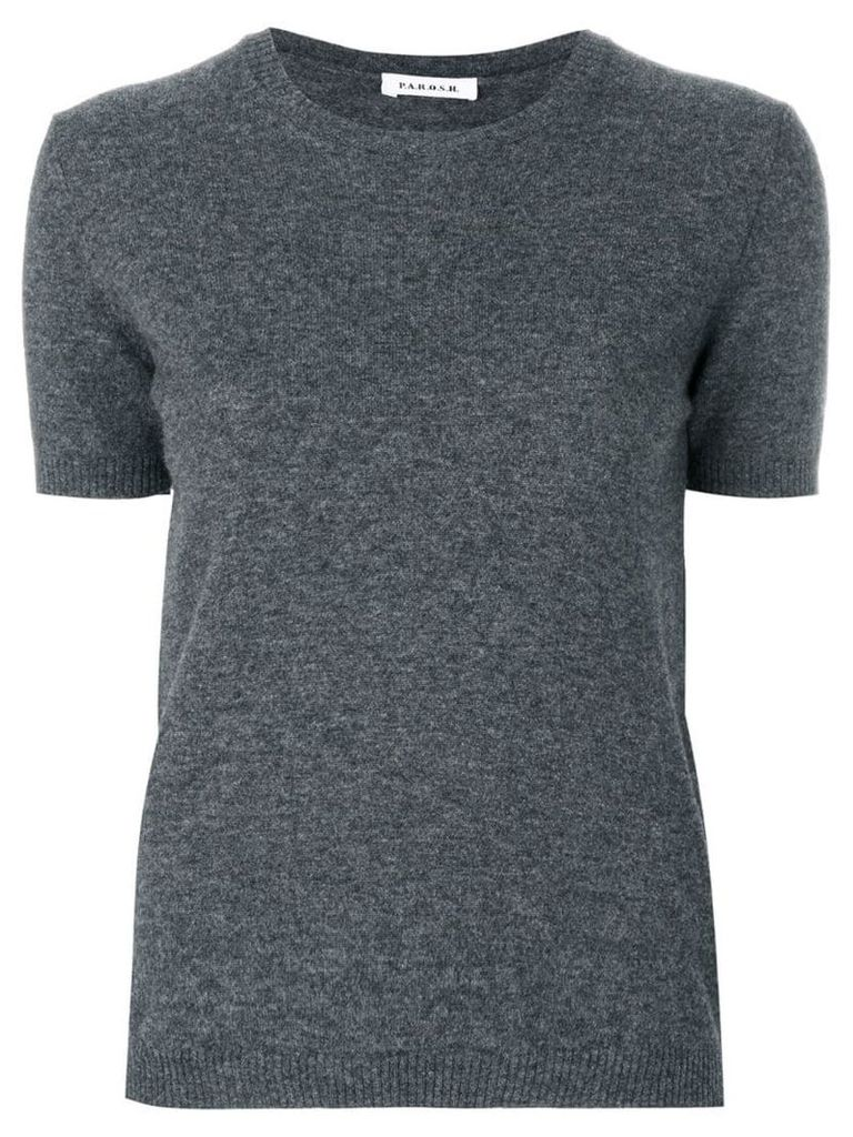 P.A.R.O.S.H. short sleeve jumper - Grey