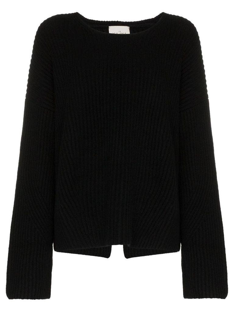 Le Kasha Seoul ribbed cashmere jumper - Black