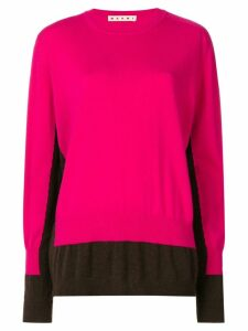 Marni colour-block fitted sweater - Pink