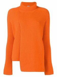 MRZ paneled asymmetric sweater - Yellow