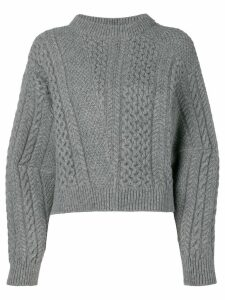 Stella McCartney oversized sleeves sweater - Grey
