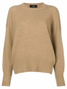 Maison Flaneur crew neck sweater - Brown
