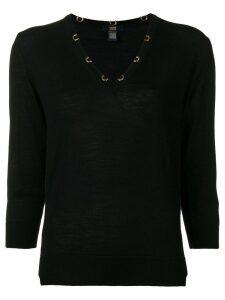 Cavalli Class V-neck sweater - Black
