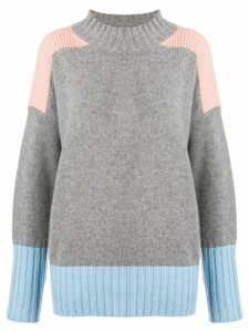 Chinti & Parker cashmere mesh knit sweater - Grey