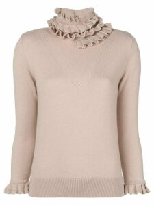 Barrie Flying Lace cashmere turtleneck pullover - Pink