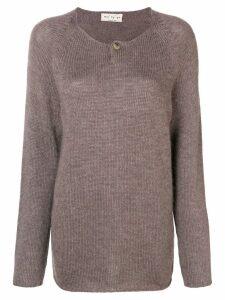 Ma'ry'ya longline fine knit sweater - Brown