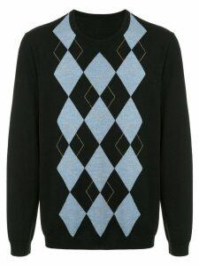 Ports V argyle sweater - Black