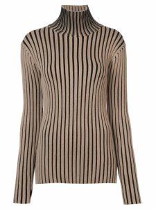 Victoria Victoria Beckham striped turtleneck sweater - Neutrals