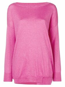 Snobby Sheep oversized boat neck sweater - Pink