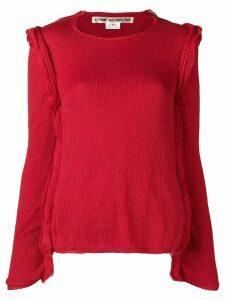Comme Des Garçons raw hem sweater - Red