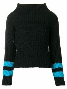 MSGM striped sleeve jumper - Black