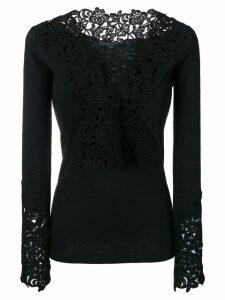 Ermanno Scervino guipure lace sweater - Black