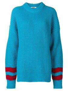 MSGM striped sleeve jumper - Blue