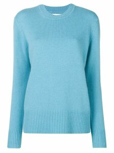 Calvin Klein long-sleeve fitted sweater - Blue