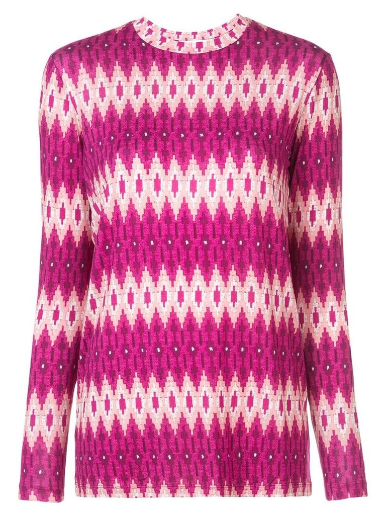 Prabal Gurung geometric fitted sweater - Pink