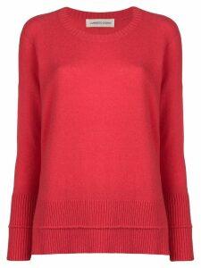 Lamberto Losani loose round neck sweater - Pink
