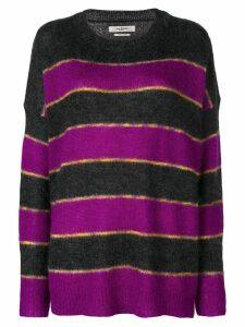 Isabel Marant Étoile horizontal stripe sweater - Purple