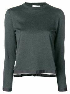 Thom Browne sheer back sweater - Grey