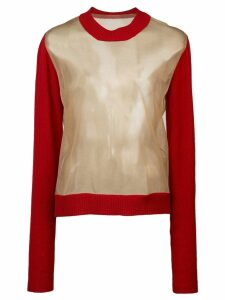 Uma Wang sheer knit jumper - Brown
