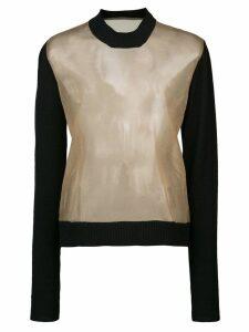 Uma Wang sheer knit jumper - Brown