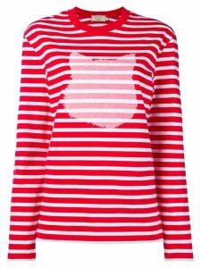 Maison Kitsuné cat print sweater - Red