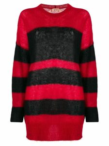 Nº21 striped mid-length sweater - Red