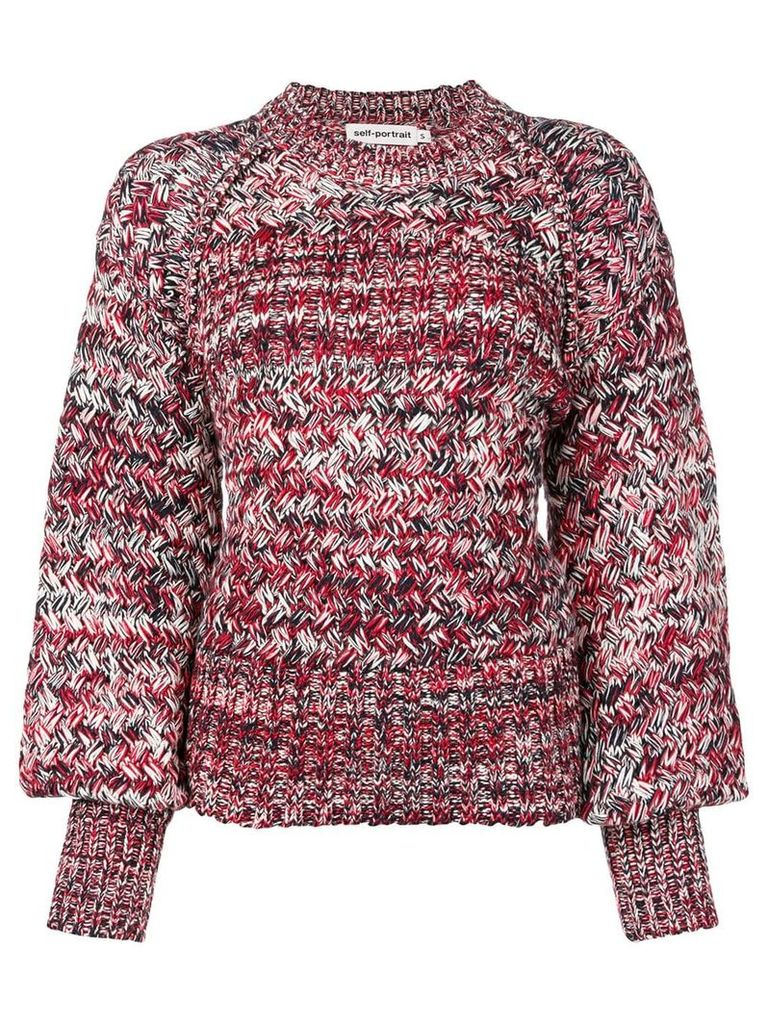 Self-Portrait knitted sweater - Red