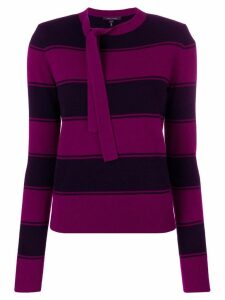 Marc Jacobs striped tie-neck sweater - Pink