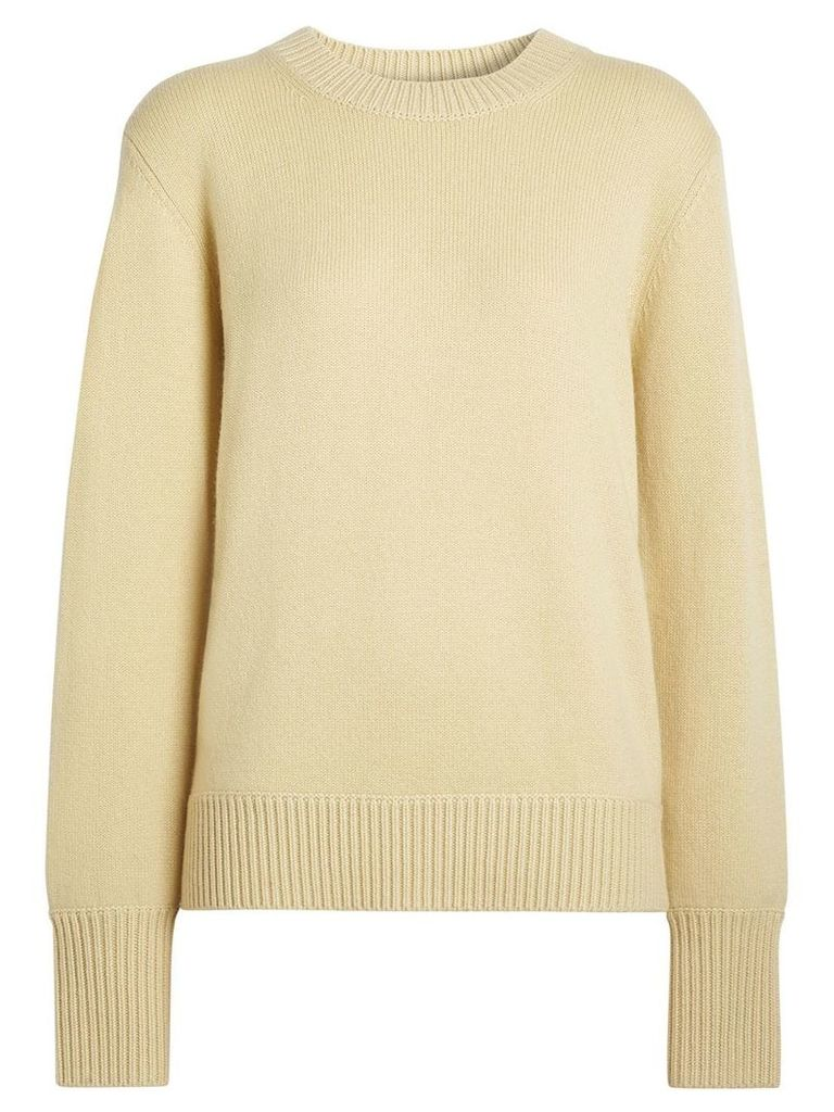 Burberry Archive Logo Appliqué Cashmere Sweater - Yellow