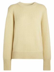 Burberry Archive Logo Appliqué Cashmere Sweater - Yellow