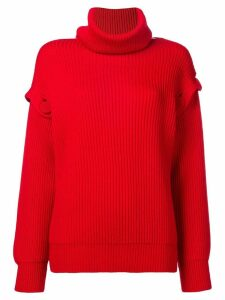 Maison Flaneur buttoned sleeve jumper - Red