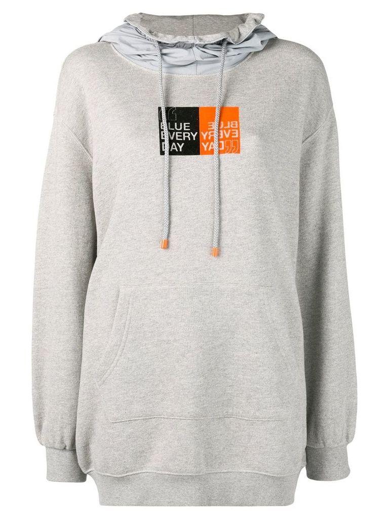 SJYP Blue Every Day hoodie - Grey