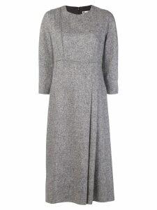 Lanvin woven pleat front dress - Black