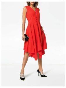 Adeam handkerchief hem wool dress - Red