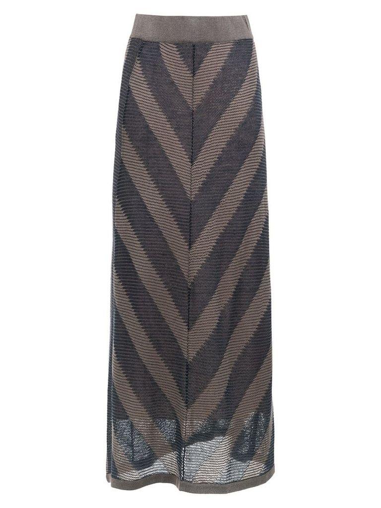 Alcaçuz Glaucia long skirt - Blue