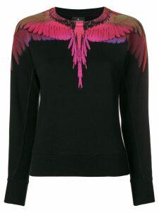 Marcelo Burlon County Of Milan bird print knitted top - Black
