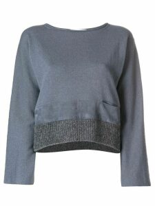 Fabiana Filippi contrast hem knitted top - Grey
