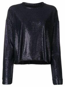 RtA metallic knit top - Blue