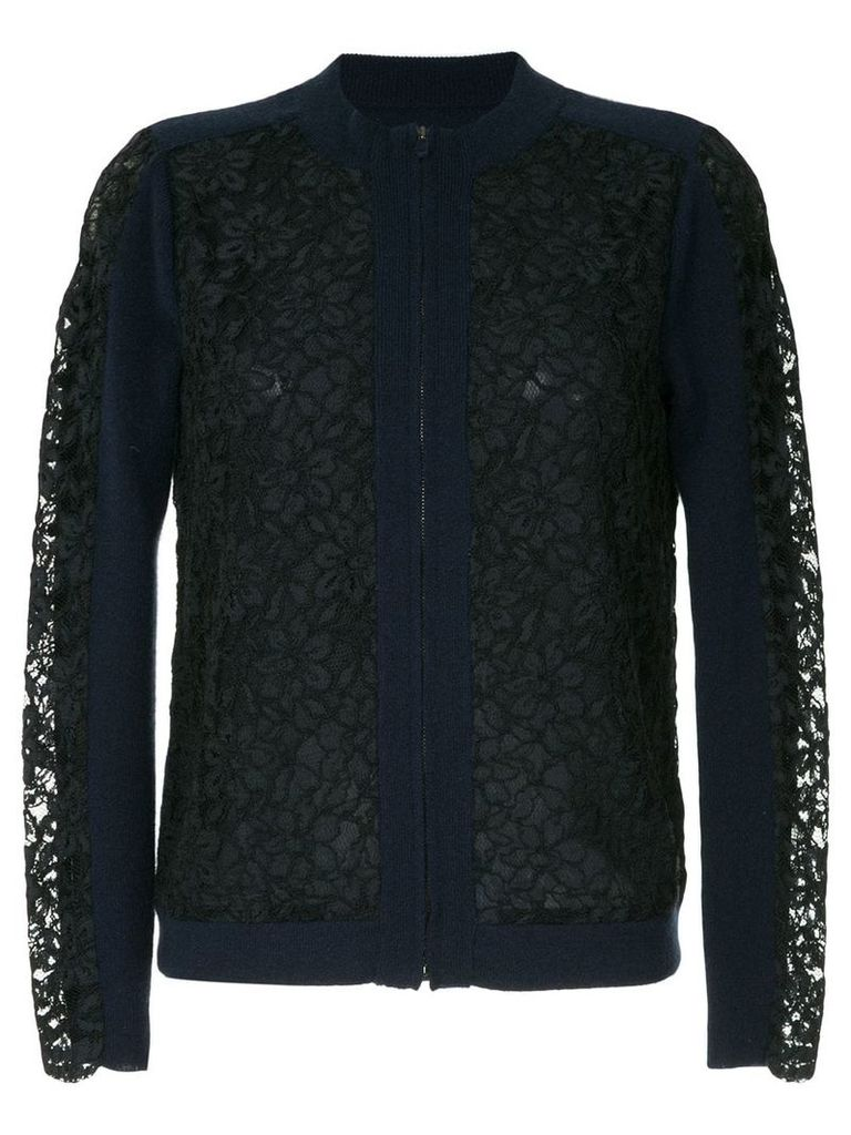 Onefifteen lace panel sweater - Blue