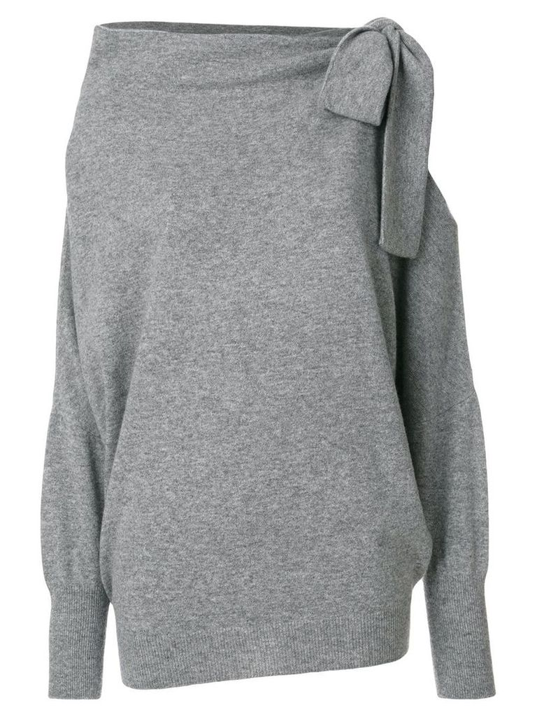 Ermanno Scervino cut-detail knitted top - Grey