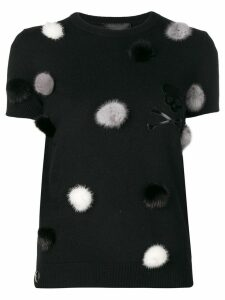 Philipp Plein pom pom detail sweater - Black