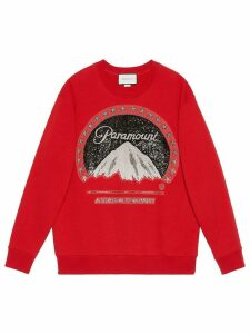 Gucci Oversize sweatshirt with Paramount logo - Red