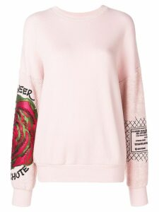 Mr & Mrs Italy embroidered floral sweatshirt - Pink