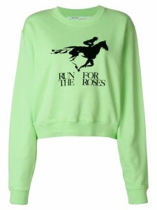 Off-White Run For the Roses sweater - Green