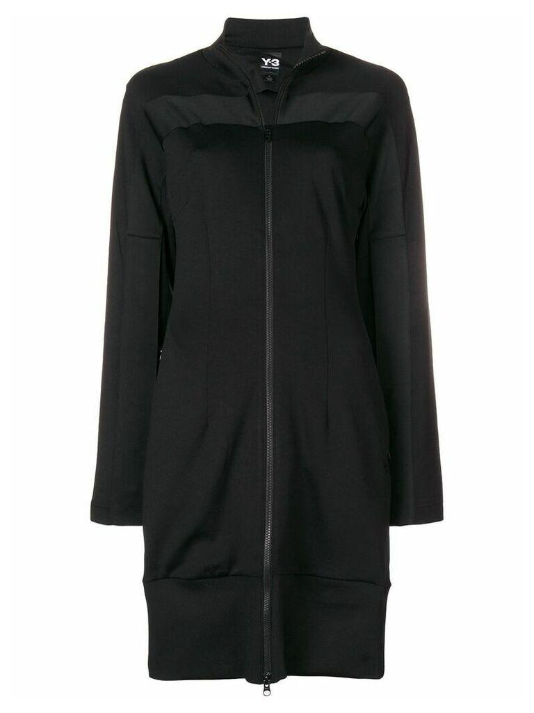 Y-3 long zipped track jacket - Black