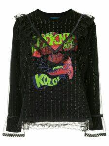 Kolor lace layer sweatshirt - Black