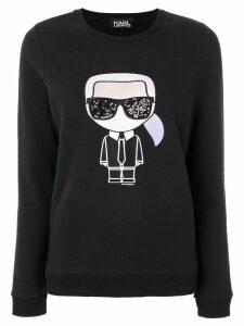 Karl Lagerfeld iconic Karl print sweatshirt - Black