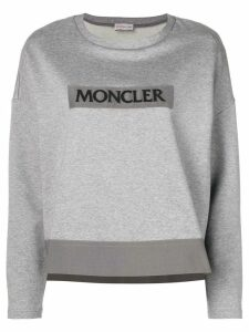Moncler logo patch sweater - Grey