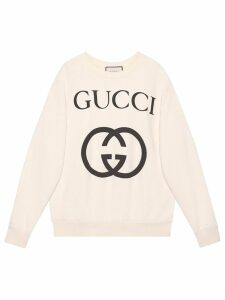 Gucci Oversize sweatshirt with Interlocking G - White