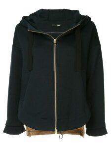 Frei Ea two-tone zipped hoodie - Black